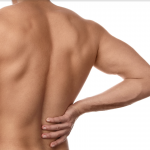 Muscular man with lower back pain