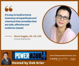 Deb Krier Business Power Hour interview with Marie Ruggles