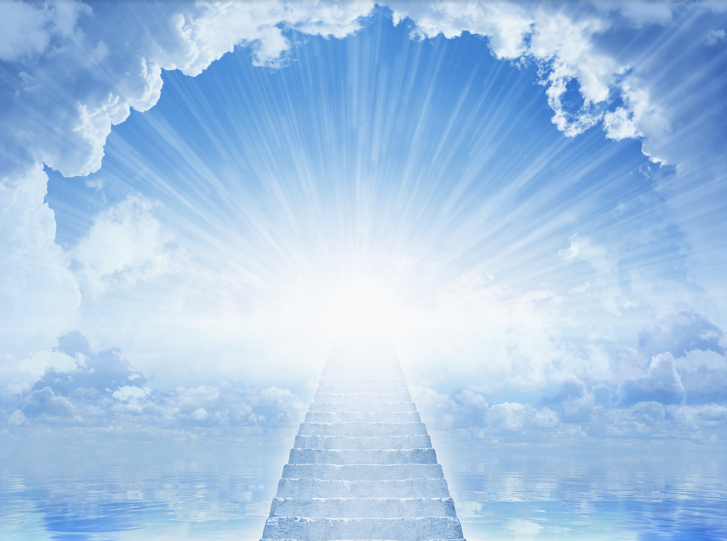Heavenly staircase in blue